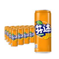 可口可乐 Coca'Cola 芬达碳酸饮料330ml/罐24罐/箱(橙味)(摩登款)  仅限上海北京