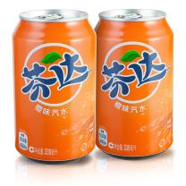 可口可乐 Coca'Cola 芬达 碳酸饮料 330ml/罐  24罐/箱 (橙味)(经典款)