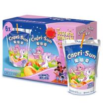 果倍爽 Capri-Sun 桃苹果复合果汁饮料200ml*6包/盒 3盒/箱