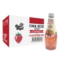可可优(Coco Royal)泰国原装进口 奇亚籽草莓汁饮料 290ml*12 整箱
