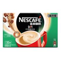 雀巢 Nestle 咖啡 速溶 2合1 无蔗糖微研磨冲调饮品 11g/条,330g/盒