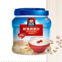 桂格 早餐谷物 膳食纤维 即食燕麦片 1000克 罐装