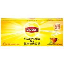 立顿 Lipton 黄牌精选红茶 2g/包  25包/盒 24盒/箱