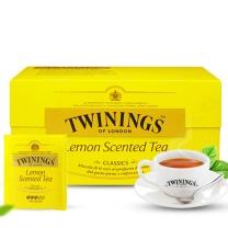 川宁 TWININGS 沁香柠檬红茶 S25 2g/片 25片/盒 12盒/箱  12盒/箱