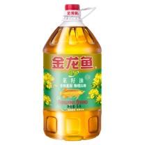 金龙鱼 (非转基因/物理压榨)低芥酸纯香菜籽油 5L*4 5L  4桶/件