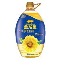 金龙鱼 自然葵香葵花籽油 4L/桶 4桶/箱  新老包装随机发货