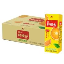 统一 鲜橙多 250毫升/盒  24盒/箱