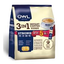 猫头鹰 三合一特浓速溶咖啡  800g(40条x20g)