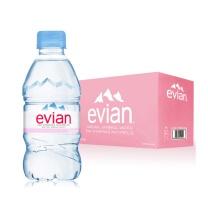 依云 evian 天然矿泉水 330ml/瓶 24瓶/箱  (粉红色外箱)(新老包装随机发货)