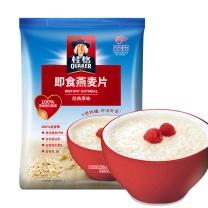 桂格 桂格早餐谷物 膳食纤维 即食燕麦片袋装1000g