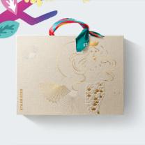 星巴克 星情月饼礼盒 348型 金沙奶黄流心*2 桂花蔓越莓*2 海盐意式浓缩咖啡风味*2  (全国)月饼券(2020年)