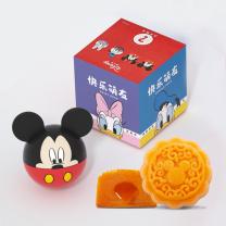迪士尼 Walt Disney 快乐萌友月饼礼盒(卡通形象随机发货) 29型 广式蛋黄莲蓉月饼 50g*1  (实物)(2020年)