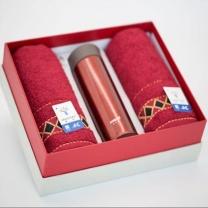 金号 KINGSHORE 哈尔斯保温杯+毛巾套装礼盒 JH1010/HD-350-28