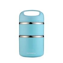 多样屋 TAYOHYA 蓝颜双层保温手提餐桶 TA010302030ZZ 930ML