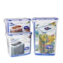 乐扣乐扣 LOCK&LOCK 塑料保鲜盒三件套 HPL807S001-CHS 1300+850+470ml