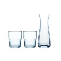 乐美雅 可叠水具三件套 LC-A116G 壶500ml;杯270ml*2  (MOQ:6)