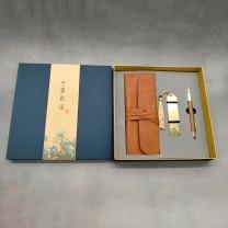 国产 千里江山-笔袋三件套(PU笔袋+书签+签字笔)