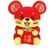 赛尔曼 鼠年吉祥物毛绒玩具送福鼠 30cm