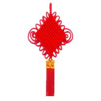 青苇 绒布中国结 1.5线 12盘 (红色)