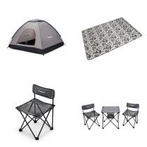 外交官 户外四件套组合(帐篷+折叠桌椅+地垫+单肩包)  300起订