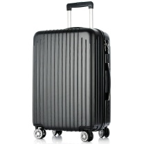 梵地亚 Vantiiear 万向轮拉杆箱耐磨抗摔旅行箱26英寸男女轻盈大容量行李箱 lsxm-2 26英寸 (黑色)