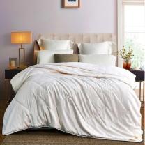 罗莱 LUOLAI 蚕丝被二合一子母被 200*230cm (白色) 床上用品被芯多用被舒柔提花