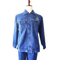 国产 定制牛仔工作服(DZ) 精梳全棉32支双股乘以10  (国电投链接291套起订)