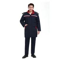 国产 定制中国电建工作服(棉服) 涤棉厚珠帆 含LOGO (藏青色) (起订量:280)