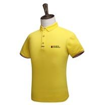 致喆 定制POLO衫 S-XXXL码  短袖 皇族-黄色 S-XXXL码