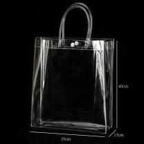 国产 pvc透明手提袋40*35*13cm(含logo不干胶贴纸)  (融创链接)(起订量:300个)