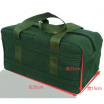 科力普 COLIPU 定制帆布稽核业务凭证包25cm*15cm*35cm 绿色  (起订量:500个)