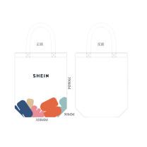 国产 定制帆布袋 12A 单面四色印刷 35*32*5cm  (希音链接)(起订量:1200个)