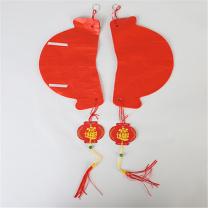 科力普 COLIPU 塑纸灯笼 φ35cm 500个/箱 (红) 2箱起可定制