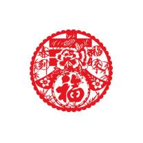科力普 COLIPU 窗花 28*28cm 厚5丝 10000张/箱 (红) 5箱起可定制 样式可选