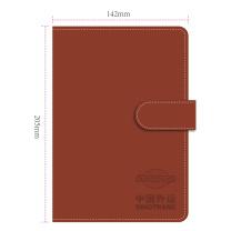国产 定制A5裱贴笔记本封面压印logo(100本起订) 带笔插款 A5 (棕色)