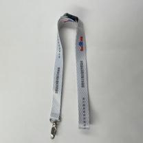 国产 定制挂绳(DZ)(起订量:1000) 金属扣、塑料安全扣、双色logo 尺寸2cm*45cm (白色) 100条/捆 (百度链接)