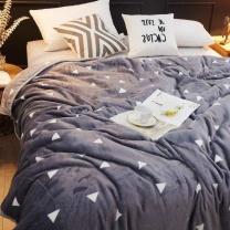 南极人 法兰绒毯子 办公室午睡盖毯盖被 珊瑚绒空调毯毛毯被 灰 150*200cm  (含无纺布袋外包装)