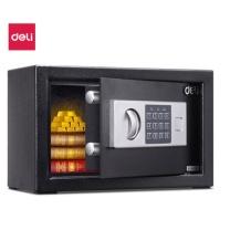 得力 deli 保险柜 高20cm电子密码保管箱 入墙入柜办公家用小型保险箱 铁甲小宝33057