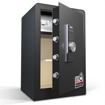 得力 deli 保险柜 3644S 600*380*360mm45kg锌合金材质 (黑色)