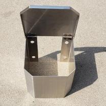 木冕 观测点不锈钢铁盒 150mm*150mm*150mm