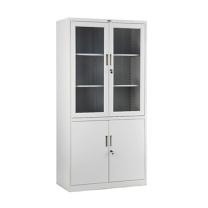 集大 JIDA 钢质双节玻璃开门柜 CA-BK10-K7 H1840*W800*D400mm (灰白色) 仅限上海