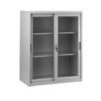 集大 JIDA 钢质玻璃移门柜 CAB-BY-10 H1090*W900*D400mm (灰白色) 仅限上海