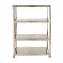 臻远 三层不锈钢置物架 ZY-KLP-HJ001 W60*D30*H100CM (银色) 重量:5kg,5组含安装