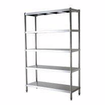 臻远 四层不锈钢置物架 ZY-KLP-HJ014 W60*D35*H150cm (银色) 重量:10kg,5组含安装