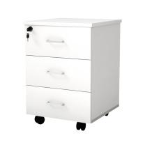 荣将 活动柜 办公职员木质文件资料储物抽屉小矮柜子 400mm副柜