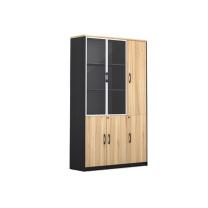 臻远 带锁木质书柜组合 ZY-KLP-SG9173 1200W*400D*2000H  木门在右