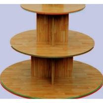 铭泽 圆形书柜 三层 直径160*高度140cm  定制