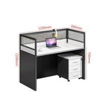 臻远 一字型单人位(含柜) ZY-KLP-BGZ112 W1200*D600*H1100 (黑白套色) 55kg
