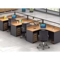有有家 F型三人工位(含活动柜+椅子) W1440*D4400*H1100mm