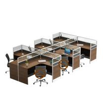 洛克菲勒 六人位屏风办公桌(含柜) T字型 W4200*D2400*H1100